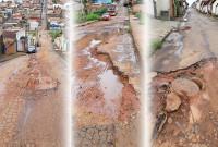 Buracos, crateras e vias danificadas em